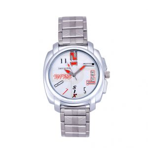 Shostopper Stylish Metallic White Dial Analogue Watch For Men (product Code - Sj60044wm)