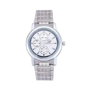 Shostopper Multi Dial Metallic Off-white Dial Analogue Watch For Men (product Code - Sj60041wm)
