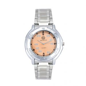 Shostopper Orange Dial Metallic Analogue Watch For Men (product Code - Sj60037wm)