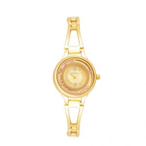 Women's Watches   Round Dial   Metal Belt   Analog - Shostopper Gorgeous Gold Dial Analogue Watch For Women (Product Code - SJ62036WW)