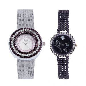 Shostopper Vintage Collection Combo Watches For Womens (product Code - Sj183wcb)