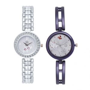 Women's Watches   Round Dial   Metal Belt   Analog - Shostopper Vintage Collection Combo Watches for Womens (Product code - SJ181WCB)