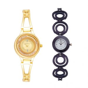 Shostopper Vintage Collection Combo Watches For Womens (product Code - Sj182wcb)