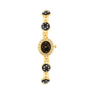 Shostopper Designer Black Dial Analogue Watch For Women (product Code - Sj62017ww)
