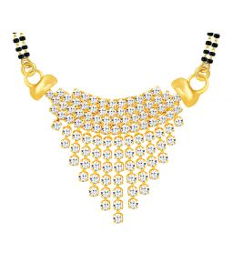 Shostopper Incredible Gold Plated Australian Diamond Mangalsutra Pendant