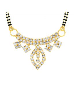 Shostopper Modish Gold Plated Australian Diamond Mangalsutra Pendant