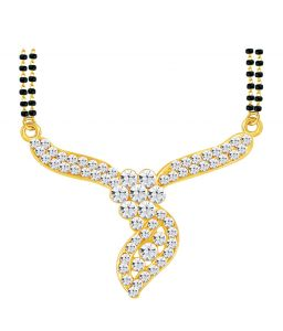 Shostopper Amazing Gold Plated Australian Diamond Mangalsutra Pendant