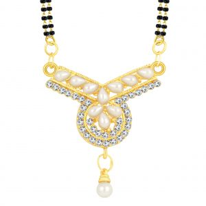 Shostopper Pretty Gold Plated Australian Diamond Mangalsutra Pendant
