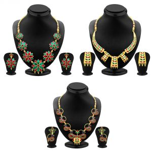 Jewellery combos - Shostopper Vintage Collection Combo Pack Of Three SJ218CB