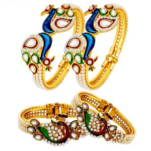 Shostopper Combo Of Traditional Kada Set For Women Pack Of 4 ( Code - Sj269cb1000 )