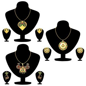 Shostopper Meenakari Collection Combo Pack Of Three ( Code - Sj275cb1200 )
