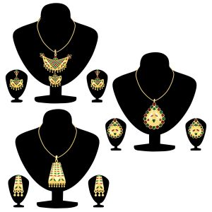 Shostopper Meenakari Collection Combo Pack Of Three ( Code - Sj276cb1250 )