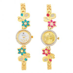 Shostopper Designer Combo Watches For Womens Pack Of Two ( Code - Sj308wcb1200 )