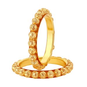 Bangles, Bracelets (Imititation) - Shostopper Stylish Gold Plated Bangle Set For Women ( Cpde - SJ32012B400 )