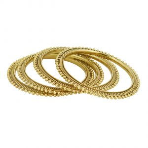 Shostopper Traditional Gold Plated Bangle Set Of 4 For Women ( Code - SJ32015B250 )