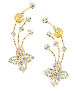 Shostopper Modish Gold Plated Australian Diamond Earcuff