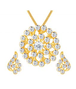 Shostopper Sublime Gold Plated Australian Diamond Pendant Set