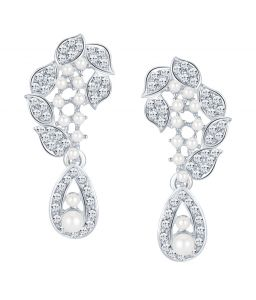 Shostopper Exquisite Rhodium Plated Australian Diamond Earring