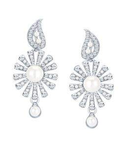 Shostopper Finely Rhodium Plated Australian Diamond Earring
