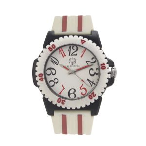 Shostopper Red & White Dial Analogue Watch For Men - Sj60060wm