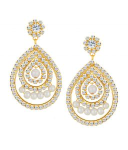 Shostopper Splendid Gold Plated Australian Diamond Earring