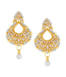 Shostopper Eye-catchy Gold Plated Australian Diamond Earring