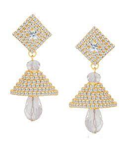 Shostopper Fine Gold Plated Australian Diamond Earring