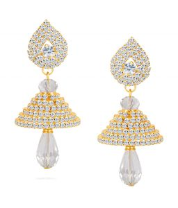 Shostopper Pretty Gold Plated Australian Diamond Earring