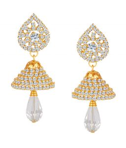 Shostopper Glistening Gold Plated Australian Diamond Earring