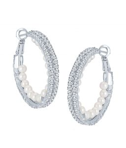 Shostopper Delightly Rhodium Plated Australian Diamond Earring