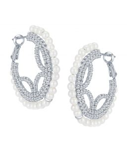 Shostopper Traditionally Rhodium Plated Australian Diamond Earring