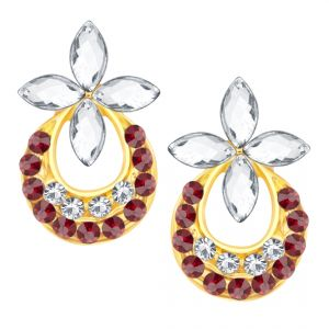 Shostopper Chandbali Gold Plated Australian Diamond Earring Sj6068en