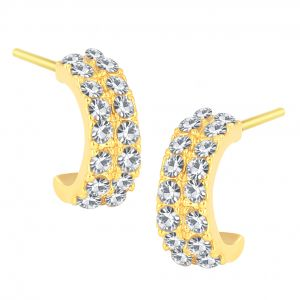 Shostopper Modern Gold Plated Australian Diamond Earring Sj6071en
