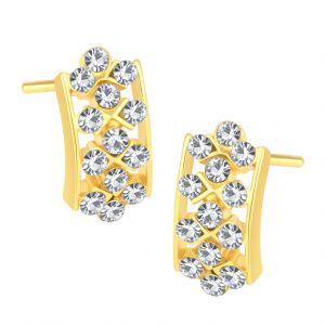 Shostopper Marquise Gold Plated Australian Diamond Earring Sj6073en