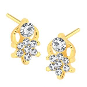 Shostopper Charming Gold Plated Australian Diamond Earring Sj6075en