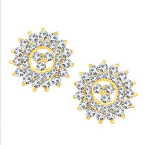 Shostopper Sparkling Gold Plated Australian Diamond Earring Sj6077en