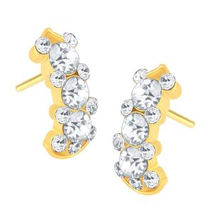 Shostopper Stunning Gold Plated Australian Diamond Earring Sj6078en
