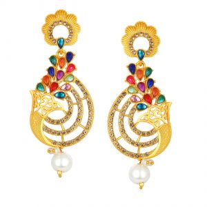 Shostopper Fabulous Multi-color Gold Plated Earring ( Code - Sj6115en )