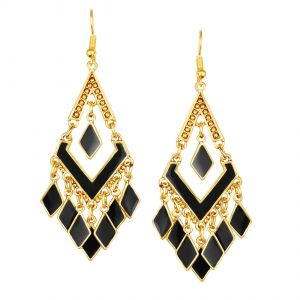 Shostopper Geometric Gold Plated Earring ( Code - Sj6118en )