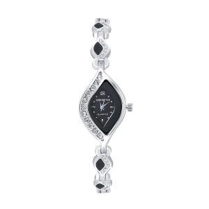 Shostopper Shimmering Black Dial Analogue Watch For Women (product Code - Sj62028ww)