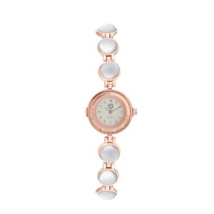 Shostopper Stylish Silver Dial Analogue Watch For Women - Sj62048ww