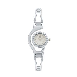 Shostopper Classic White Dial Analogue Watch For Women - Sj62054ww