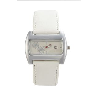 Women's Watches   Rectangular Dial   Leather Belt   Analog - Shostopper Snowy White Dial Analogue Watch For Women - SJ62060WW