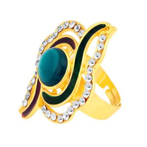 Shostopper Fancy Designer Gold Plated Ring Sj8001r