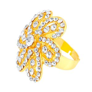 Shostopper Glistening Designer Gold Plated Ring Sj8003r