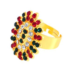 Shostopper Floral Designer Gold Plated Ring Sj8007r