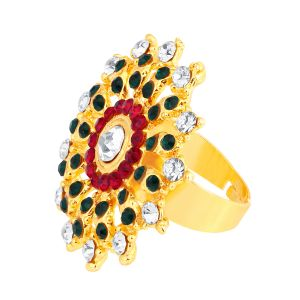 Shostopper Delightful Designer Gold Plated Ring Sj8008r