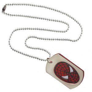 Men Style Spiderman Red Stainless Steel Square Pendant For Men And Boys (product Code - Spn09108)