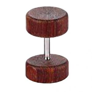 Men Style 6mm 10mm Wooden Dumbbell Shaped Brown Alloy Surgical Single Stud Earring (product Code - Ser001003)