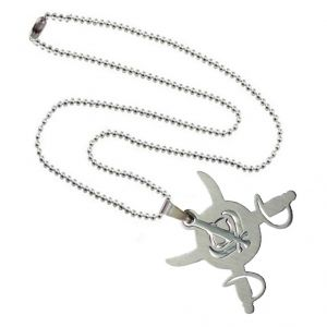 Men Style High Polished Khanda Silver Stainless Steel Sword Pendant (product Code - Spn011004)